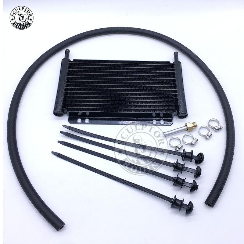 Envío Gratis enfriador de aceite de aluminio enfriador de aceite de transmisión automática de placa apilable de ventilador de enfriamiento 4 6 8 12 13Row 15Row 22Row