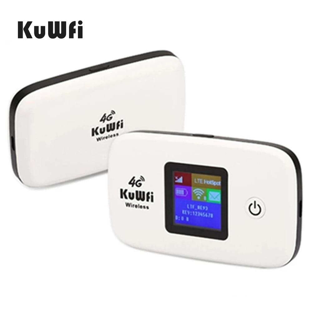 KuWFi 4G راوتر 150Mbps لاسلكية واي فاي 3G/4G LTE الموجهات مقفلة العالمية سيم بطاقة TDD/FDD راوتر مع بطاقة Sim و TF بطاقة فتحة
