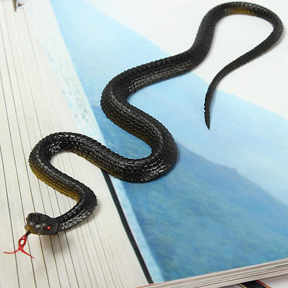 Черная и желтая Змея Имитация змеи искусственная змея маленькая змея мягкая резиновая змея пластиковая полная страшная игрушка