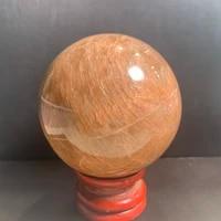 aladdin natural peach moonstone sphere quartz mineral crystals gemstones ball reiki healing fine home decoration jewelry gift