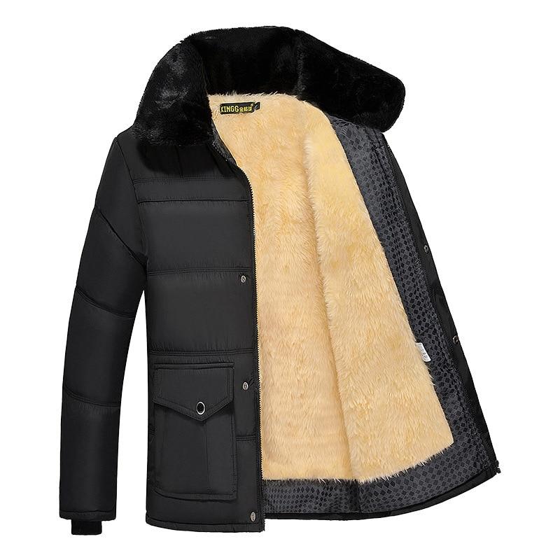 Chaqueta y abrigo de invierno para hombre, Parkas gruesas y cálidas con capucha de piel, prendas de vestir para hombre, cazadora de marca, ropa de calle gruesa informal, GA503