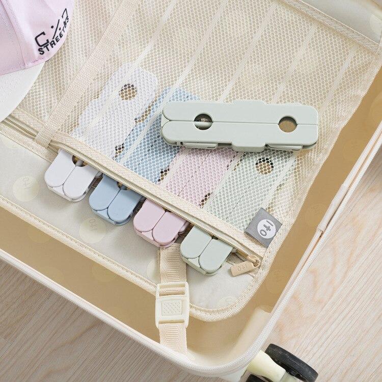 2018 nueva percha para ropa portátil de viaje al aire libre Multi-funcional Magic dring Rack antideslizante soporte para percha de ropa