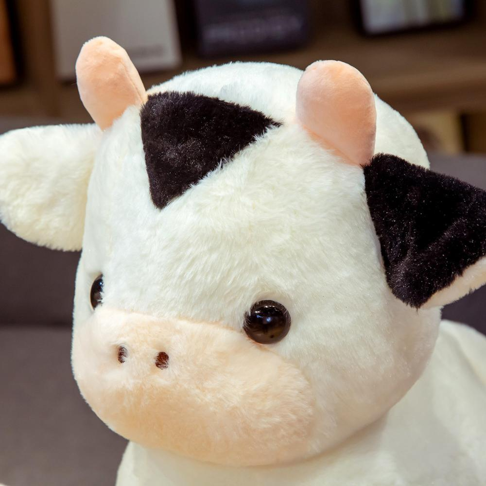 Hot 30/40/50cm Lovely Fortune Cow Plush Toys Soft Stuffed Cute Animal Milk Cattle Plush Hug Doll for Kids Baby Birthday Gift  - buy with discount
