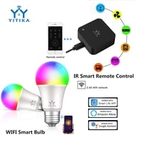 YITIKA     ampoule intelligente a telecommande IR  Mini telecommande universelle intelligente WiFi IR  fonctionne avec Alexa Google Home