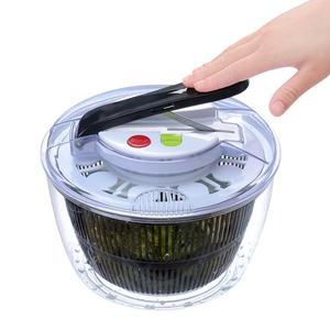 Ручная Салатница Spinner Овощной Дегидратор Push-Type 5L безопасная Прозрачная чаша большая емкость для мытья фруктов сливная корзина
