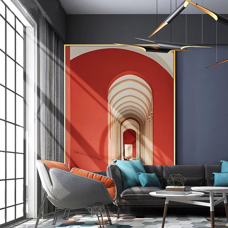 Pintura a óleo pintados à mão abstrato mural edifício villa entrada corredor pintura moderna minimalista sala de estar pintura decorativa