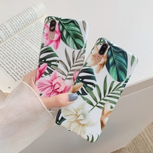 For P30 Vintage Flower Banana Leaf Phone Case For Huawei P20 P30 Pro Lite Mate 20 Lite Shockproof Soft IMD Full Body Back Cover