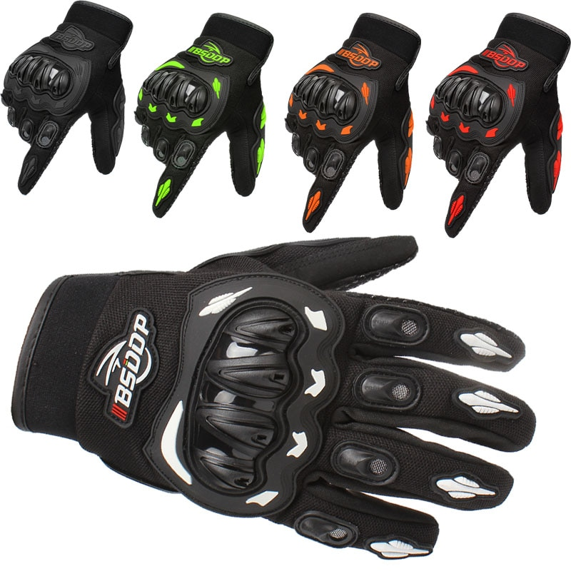 Guantes de moto negros guantes de carreras guantes de moto genuinos
