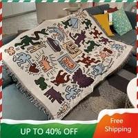 bedroom tapestry aesthetic vintage blanket elegant nordic vintage living room farmhouse decor macreme wandteppich art decoration