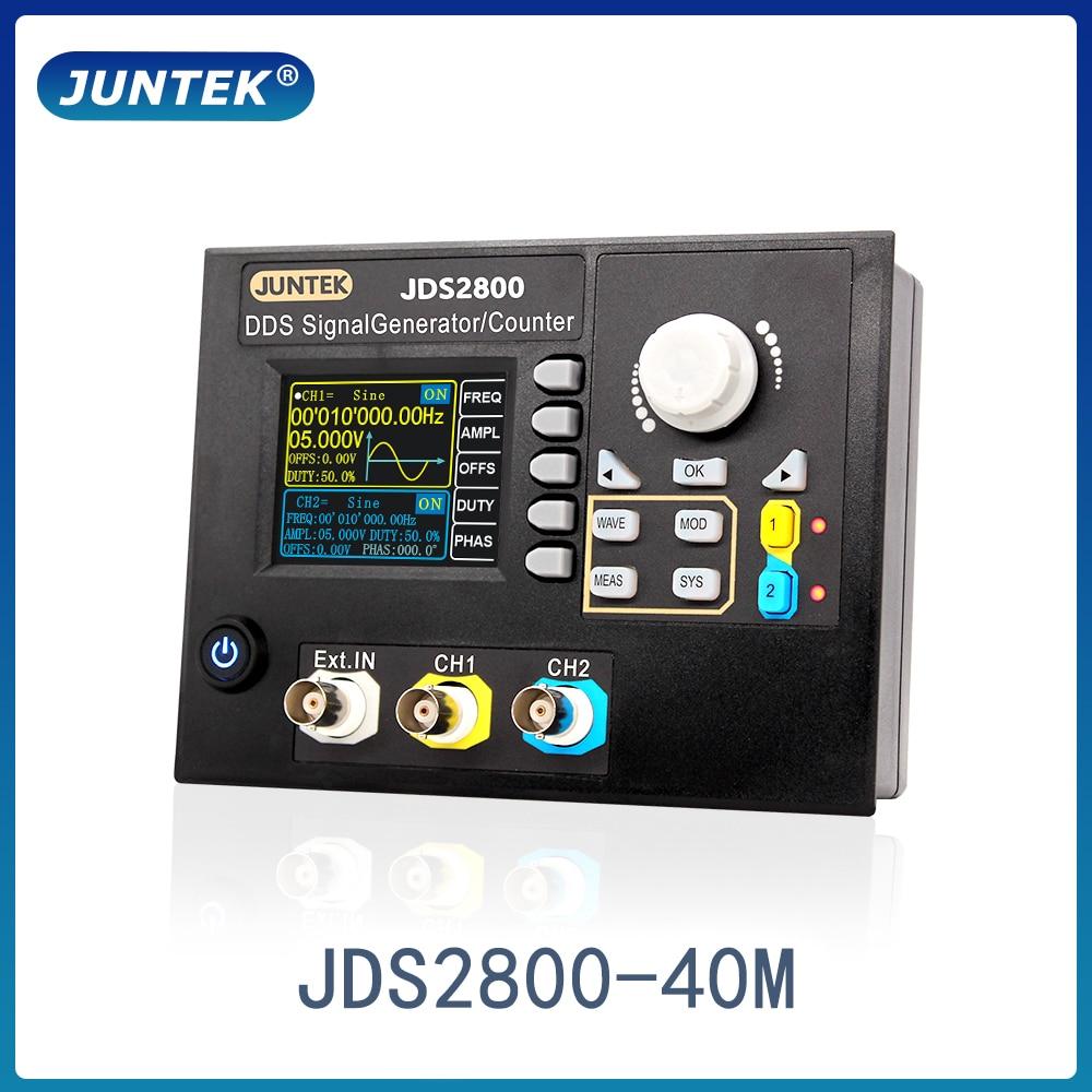JUNTEK JDS2800-40M 40MHZ Signal Generator Digital Control Dual-channel DDS Function Signal Generator frequency meter Arbitrary