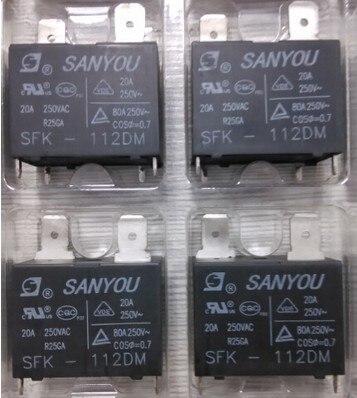 10 قطعة!!! الأصلي SANYOU SFK-112DM تكييف التتابع 20A 250VAC جديد ، في الأسهم ~