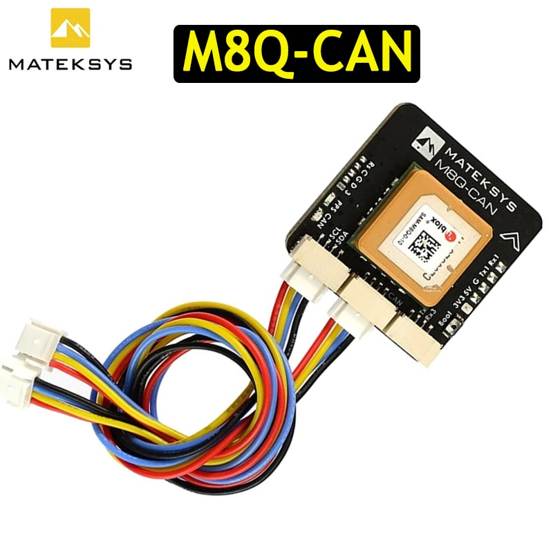 MATEK M8Q-CAN UAVCAN Protocol GLONASS/ Galileo/ GPS Module for RC FPV Racing Freestyle Airplane Dron