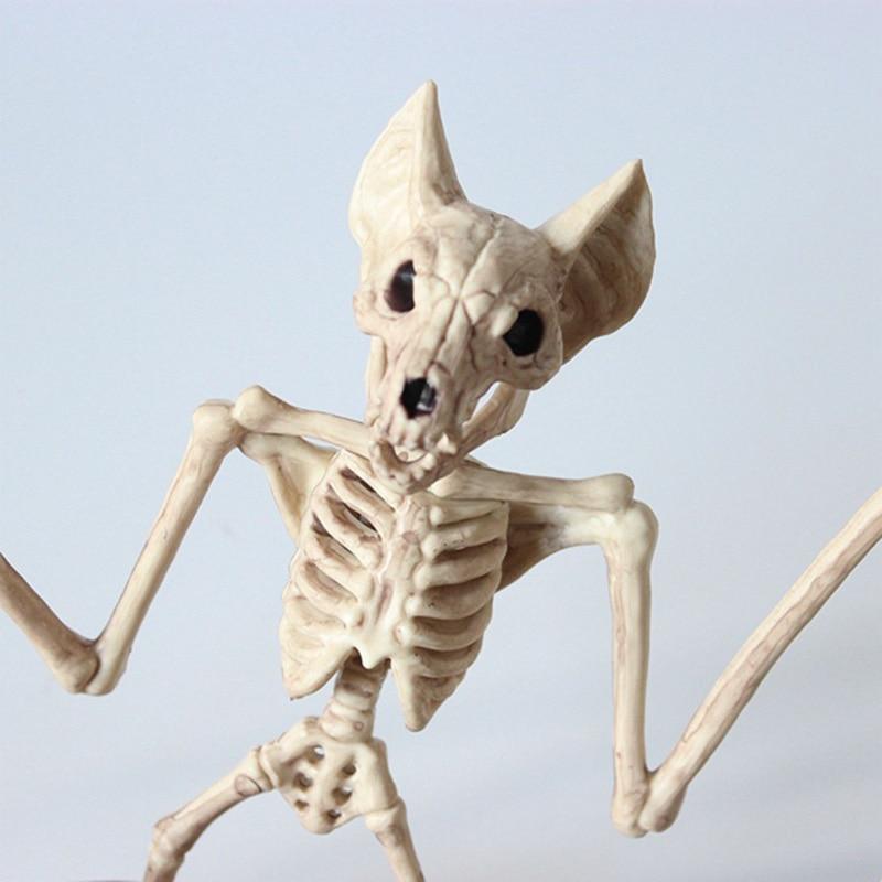 El mejor modelo de esqueleto animal murciélago/Rana/lagartija huesos decoración de fiesta de Halloween 889