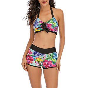 2021 Sexy Plus Size Brazilian Bikinis Women Swimwear Swimsuit Push Up Bikini Set Halter Top Beach Bathing Suits Swim Wear 5XL