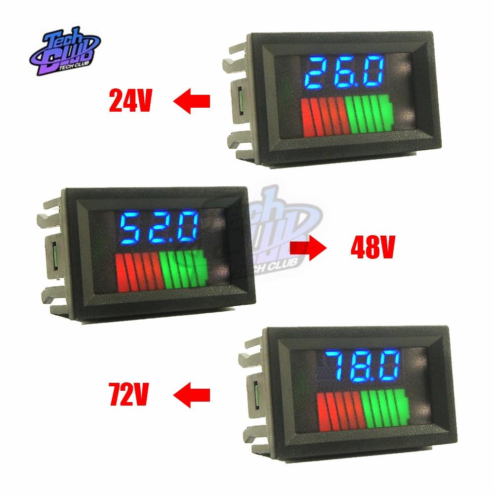 LED de niveau 12V/36V/60V 24V/48V/72V double Display10 Segmen batterie au Lithium
