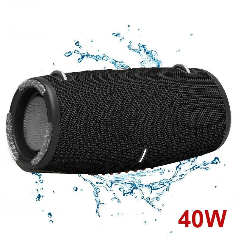 40W High Power Bluetooth Speakers Subwoofer TWS Wireless Portable Outdoor Waterproof Music Player Sound Box Column Caixa De Som