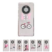 eiffel tower phone case transparent for huawei enjoy 20 10 9 8 7 s se e c z pro plus lite soft tpu clear mobile bags