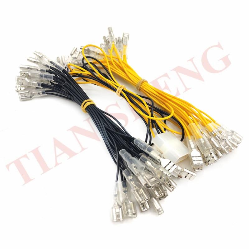 Cable de la lámpara LED con el conector rápido de 6,4mm y el conector de la lámpara de estilo de los mm para la bombilla iluminada de 30 piezas/arcade accesorios