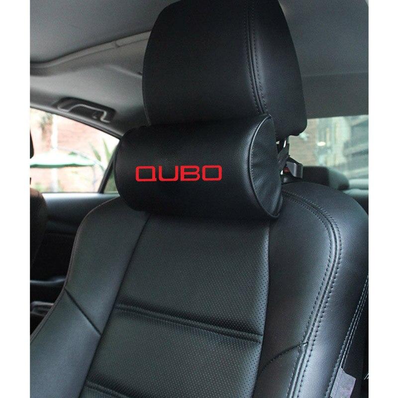 Almohada de cuello para coche de cuero PU para fiat qubo, almohadas para cuello de coche de espuma con memoria, cojín para el reposacabezas del asiento