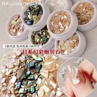 japanese nail art shell gravel natural aurora shell piece polished magic abalone shell net red phototherapy nail decoration