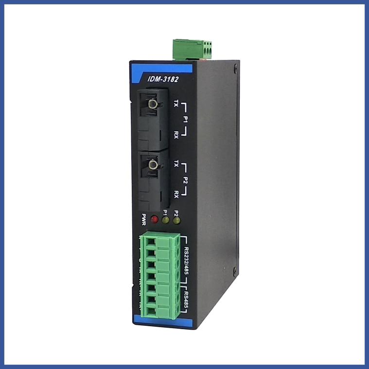 IDM-3182 ثنائي الاتجاه 485 الألياف الشفاء الذاتي خاتم البصرية محطات شبكة عصابة RS232/485 تتابع البصرية القط في البصرية الألياف T