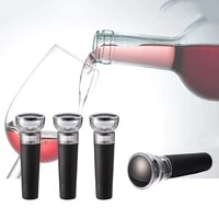 4 pcs vacuum wine stoppers wine air remover pump vacuum stoppers silicone wine bottle stoppers wine sealer caps for wine lover