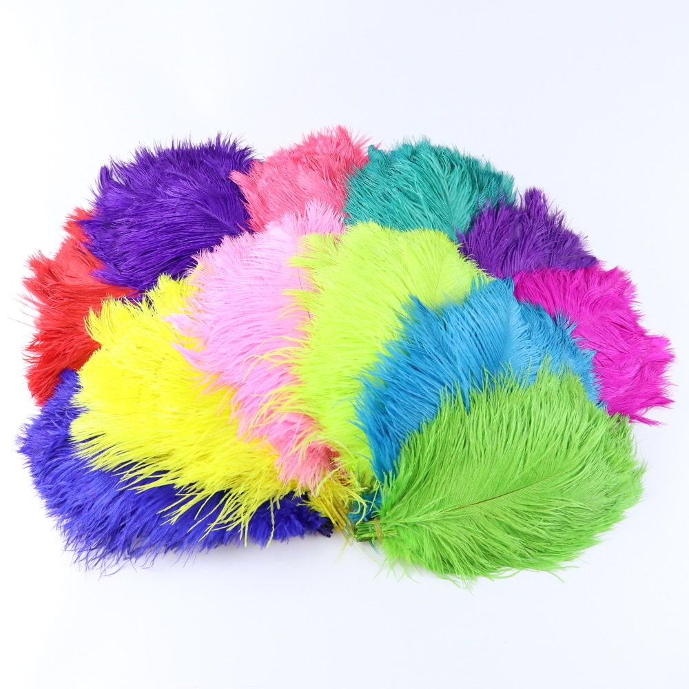 10 pçs pena de avestruz natural 10-12 Polegada festa de casamento decoração para casa penas para artesanato plumas acessórios