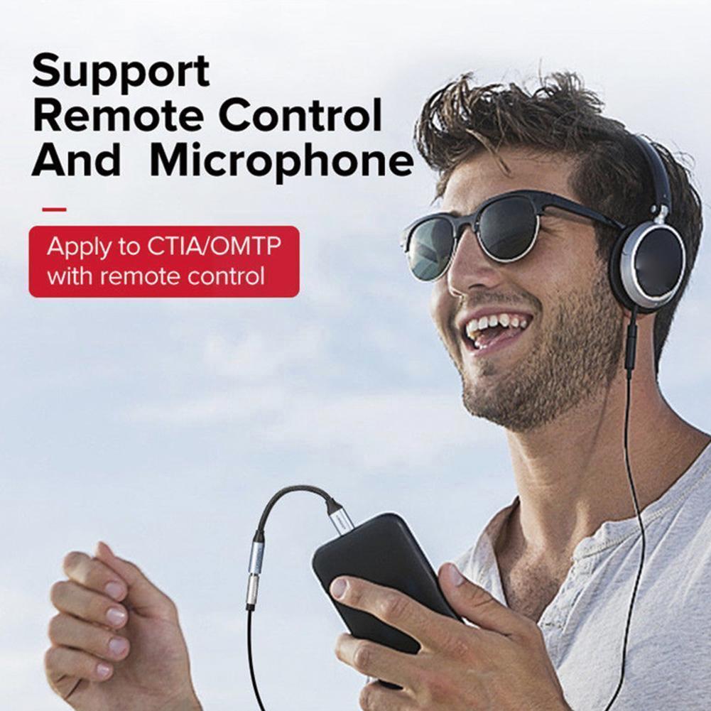 Adaptador Usb, Usb Tipo C A 3,5 Mm Adaptador de conector de auriculares CAD Tipo Adaptador with Cable de Audio de Typec C auricular Aux un convertidor de Adaptador 3 W7g4