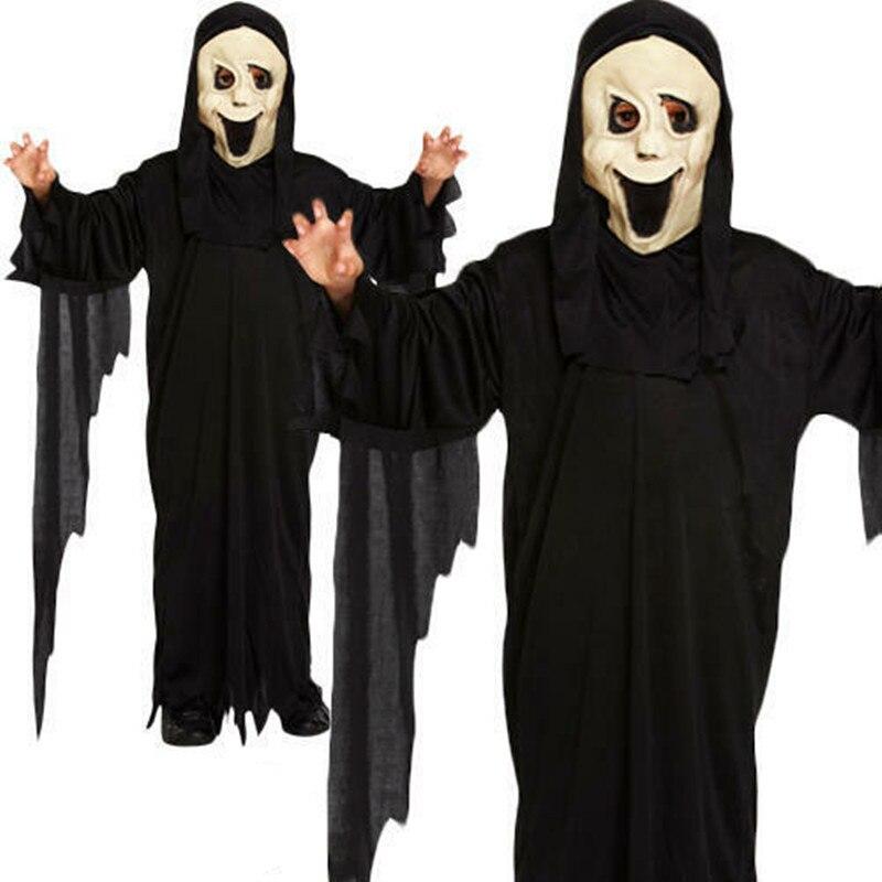 Костюмы на Хэллоуин для косплея, сценические костюмы, демон, Детские призрачные костюмы