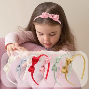Sainmax Multi Color Headband for Girls Bowknot Simple Hairband Good for Dressing Decoration Hair Accessories