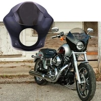 for harley sportster xl883 xl1200 road king electra glide dyna glossy black headlight fairing cowl cover mask 7 smoke
