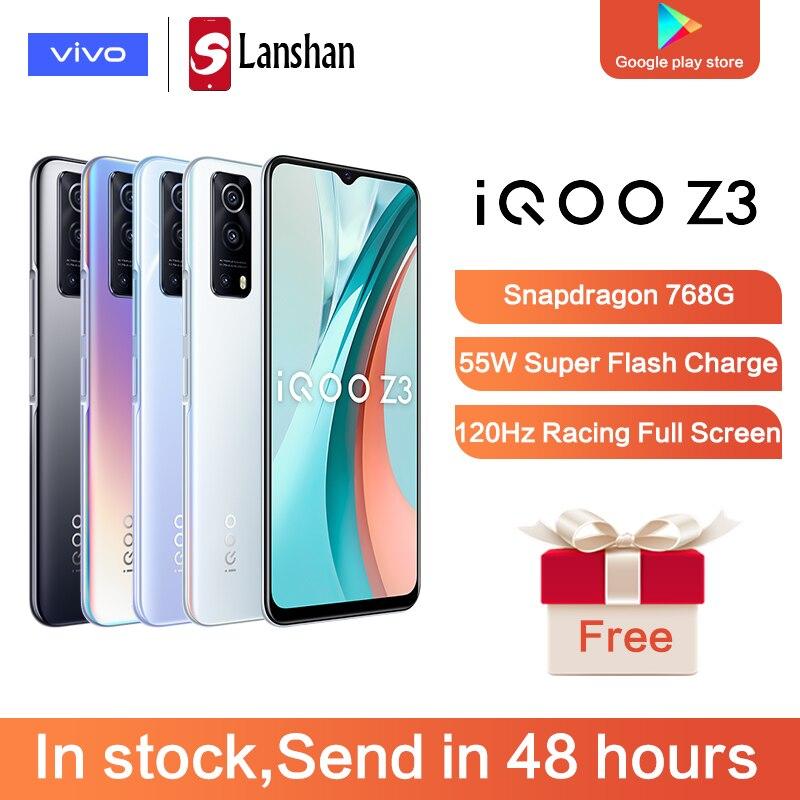 Оригинальный 5G vivo IQOO Z3, Snapdragon 768G, 120 Гц, частота обновления экрана 6,58 дюйма, 64 мп, камера 4400 мА/ч, 55 Вт, флеш-память, на базе Android 11