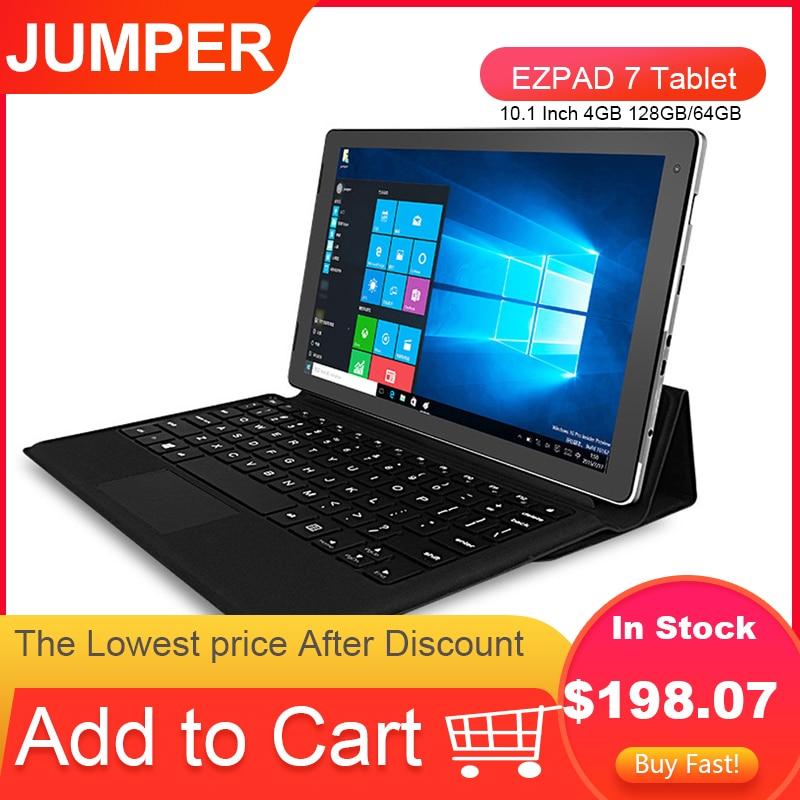 JUMPER EZPAD 7 Tablet 10.1 Inch 4GB 128GB/64GB 2 in 1 Window 10 Intel Cherry Trail X5 Z8350 Quad Core Tablet PC