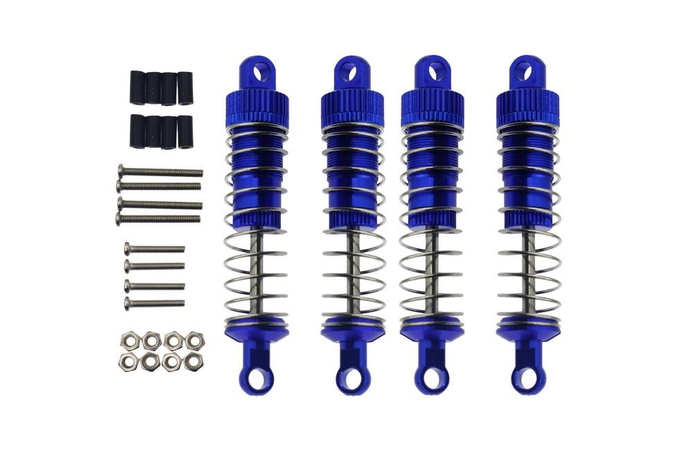 4PCS Metal Hydraulic Shock Absorber Oil Damper for For WPL C14 C24 C34 C44 MN Model MN45 D90 D91 99 99S Upgrades Car Parts enlarge