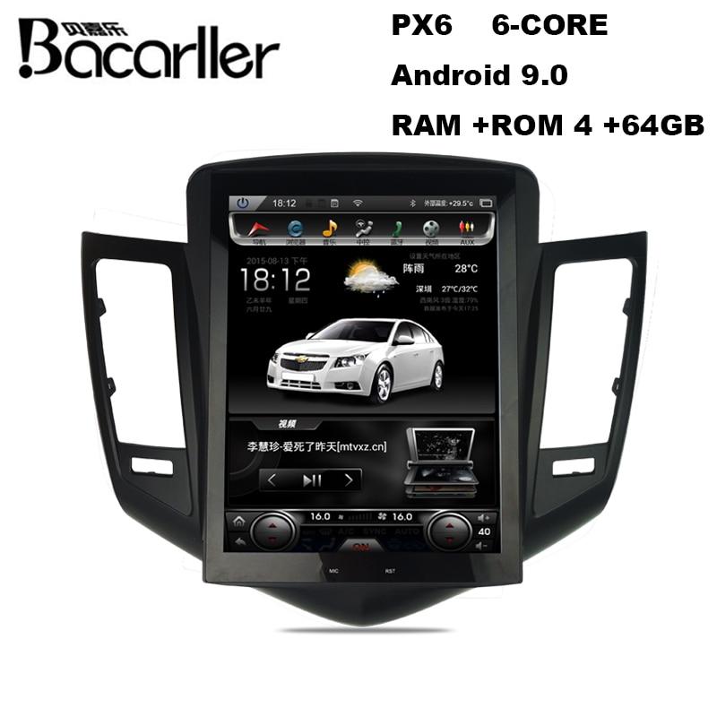 Radio multimedia para coche android 9,0 tipo Tesla para Chevrolet Cruze 2009 -2015, unidad central para coche