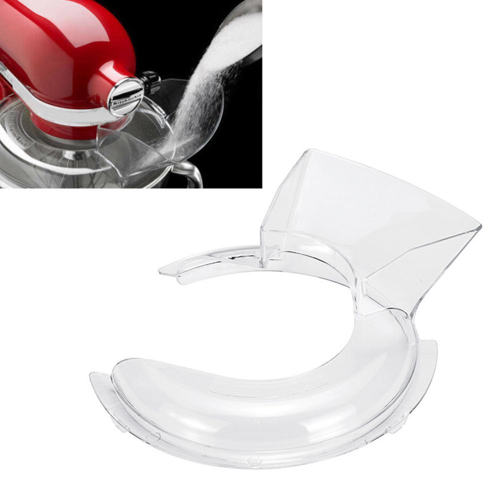 4,5-5QT pieza de reemplazo del cabezal de inclinación del escudo de vertido del cuenco para el mezclador de pie KitchenAid Escudo de vertido es apto para lavavajillas para fácil limpieza
