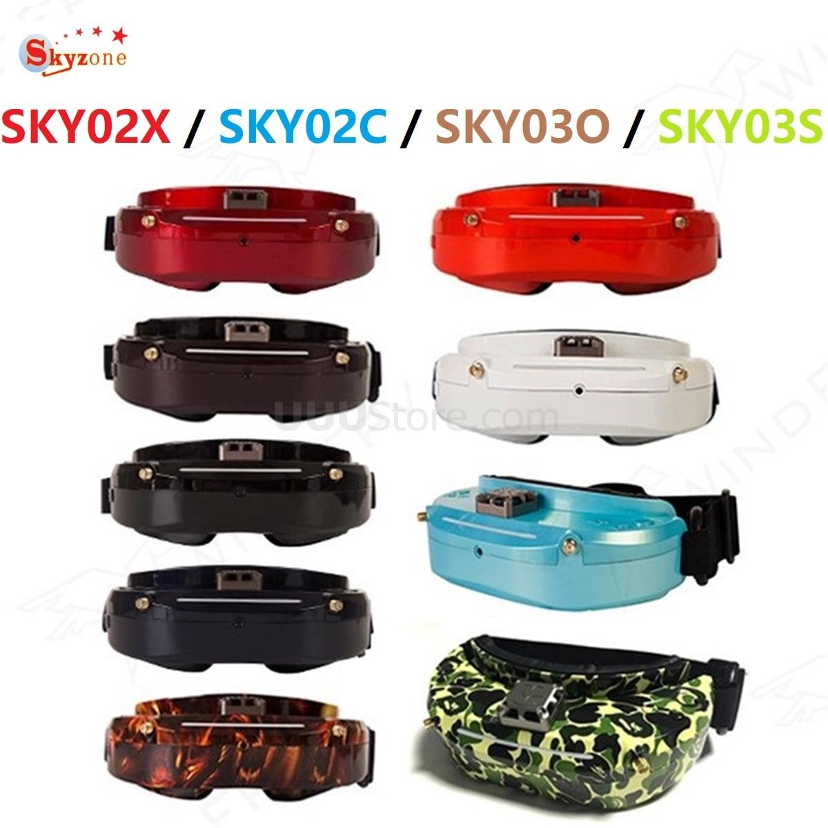 Skyzone SKY02X / SKY02C / SKY03O / SKY03S Oled 5,8 GHz 48CH la diversidad FPV gafas de apoyo OSD DVR HDMI con la cabeza rastreador ventilador LED