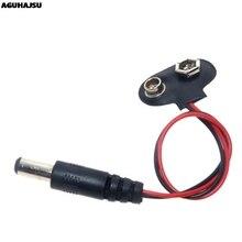 Cc 9V bouton de batterie câble dalimentation boucle de batterie senclenche connecteur de câble dalimentation DC5.5 * 2.1 pour Arduino