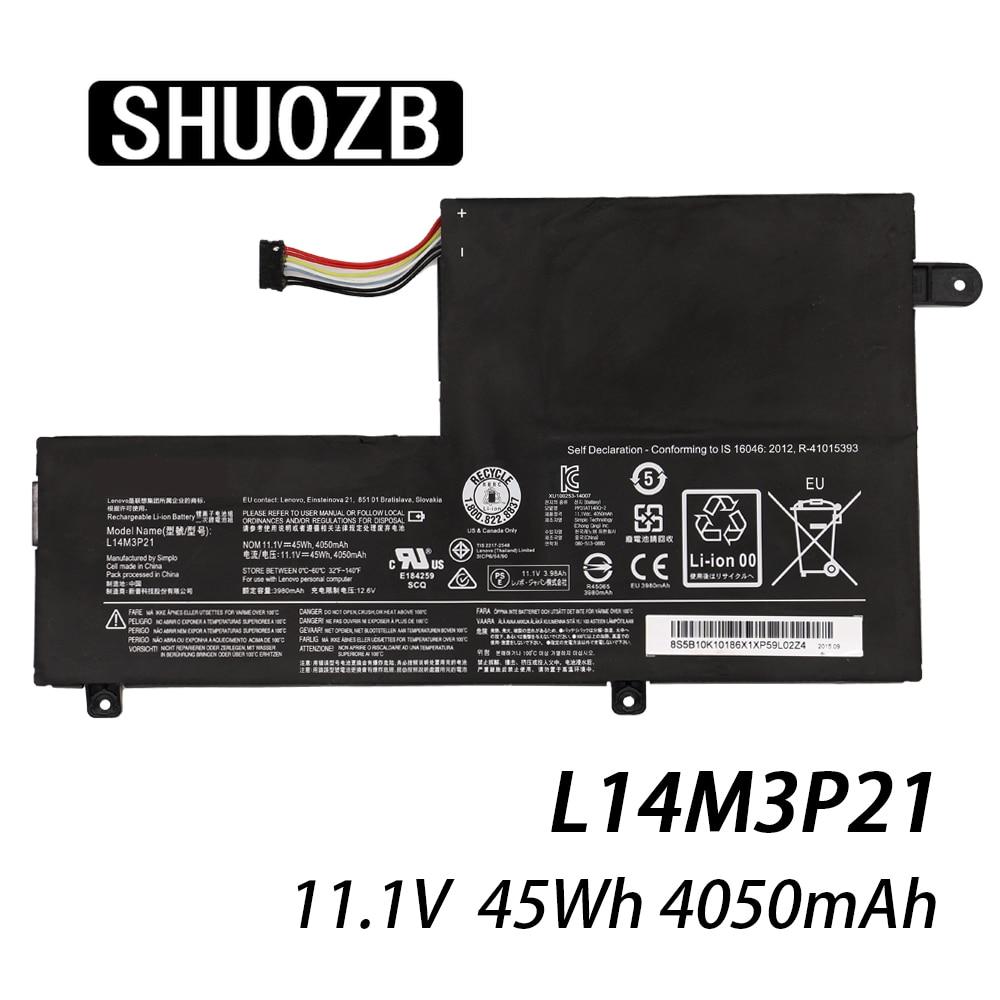 L14M3P21 L15L3PB0 batería para portátil Lenovo Flex 3 4 1470, 1480, 1570, 1580 3-14-ALEI 3-14-ISE Yoga 500 de 500-15 ISK borde 2-1580