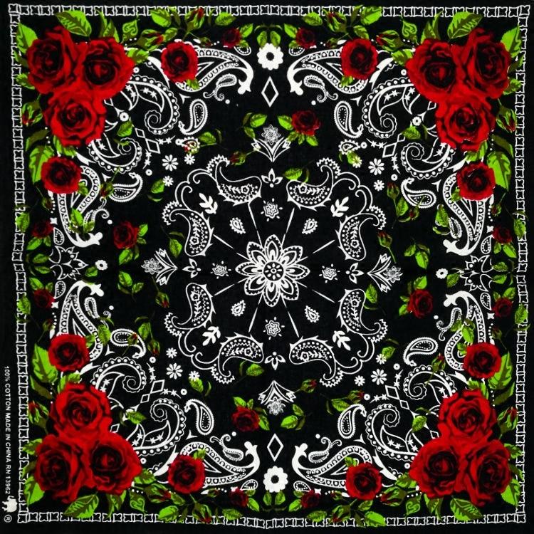 100% хлопок череп скелет Пейсли хип-хоп тюрбан банданы платки головной убор/шарф для волос повязка на запястье головной убор для женщин/мужчи...