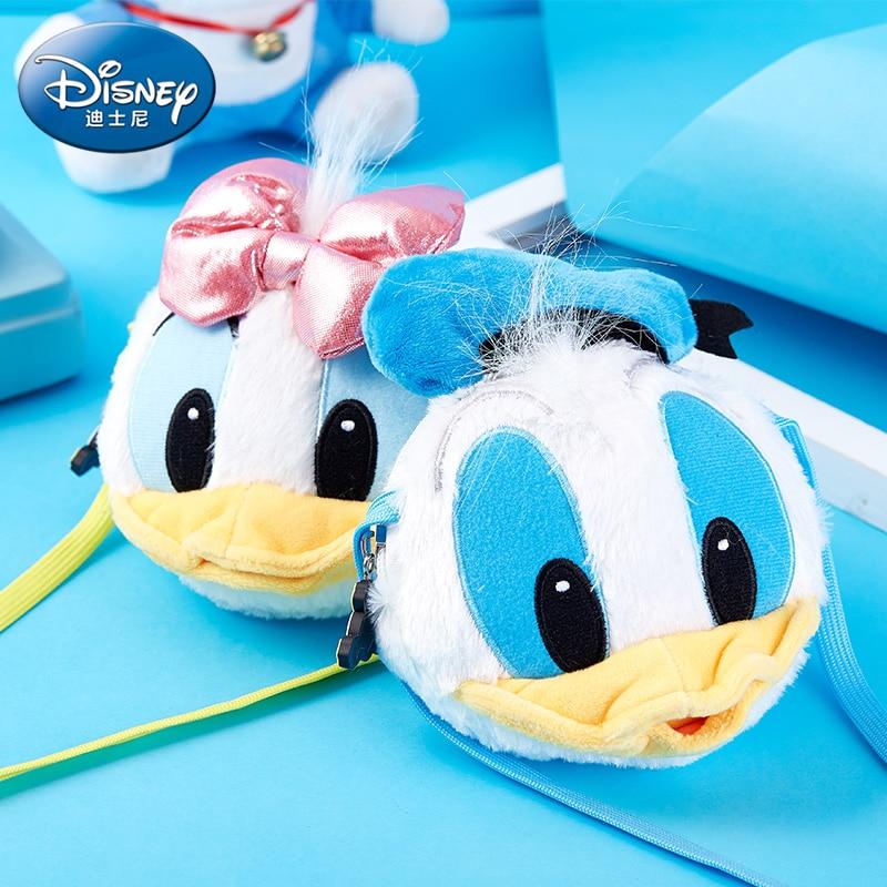 Genuino Mickey Mouse Minnie Don Duck Daisy muñeco de peluche bolsas bebé mochila niños niñas bolso de Mickey monedero de niños juguetes regalos