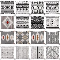 45x45cm morandi black white geometry pillowcase cushion cover throw linen pillow case gifts home office living room decoration
