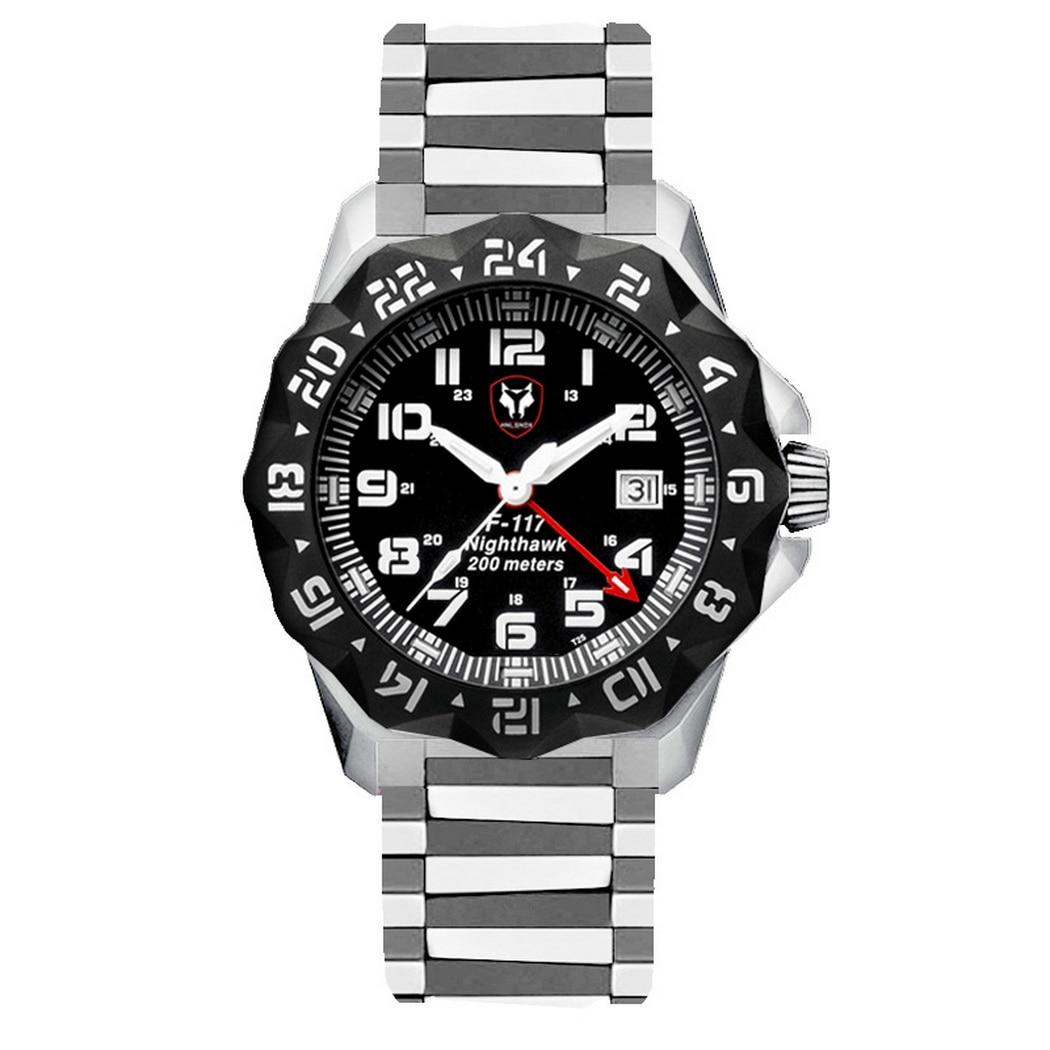 Hnlgnox رجالي غواص الساعات الطيار التريتيوم ساعة T25 مضيئة العسكرية الغوص 20Bar مقاوم للماء كوارتز ساعة اليد كرونوغراف الحافة