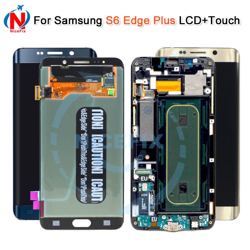 Para Samsung Galaxy S6 Edge plus, S6 Edge + G928F, SM-G928F, pantalla táctil LCD, ensamblaje digitalizador con marco