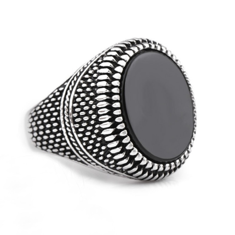Anillo de acero inoxidable de moda anillo Vintage para hombres accesorios de joyería exquisita aniversario amigo mejor regalo