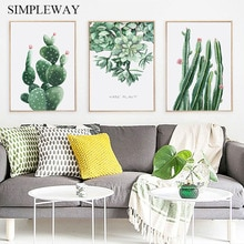Succulent Plants Cactus Canvas Nordic Style Poster Minimalist Canvas Wall Art Botanical Print Painting Modern Decoration Picture