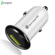 Mini 18W Fast Charger USB Car Charger Adapter Quick Charge 3.0 Car-Charger Auto Charging For iPhone