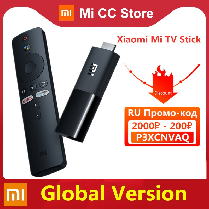 Global Version Xiaomi Mi TV Stick Android TV 9.0 Smart HDR 1GB RAM 8GB ROM Bluetooth 4.2 Mini TV Dongle Wifi Google Assistant
