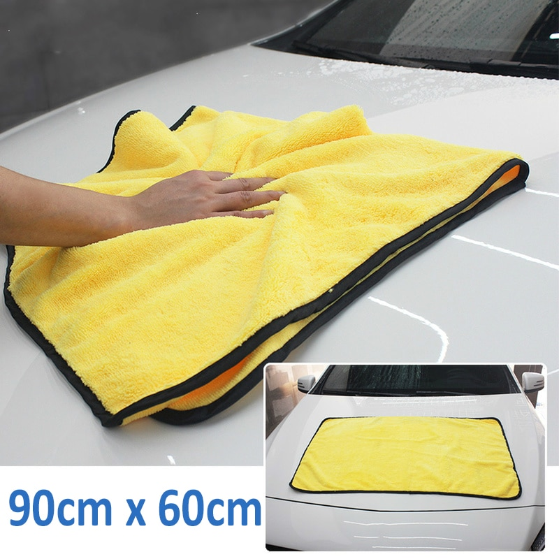 90*60cm Super Absorbent Car Wash Microfiber Towel Car Cleaning Drying Cloth Extra Large Size Drying Towel Car Care Detailing