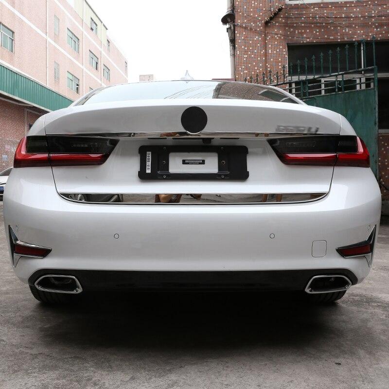 Para BMW Serie 3 G20 G28 325 2019 2020, cromo inoxidable, decoración de la puerta trasera del coche, tiras de ajuste, accesorios
